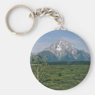 Grand Tetons, Wyoming Basic Round Button Keychain
