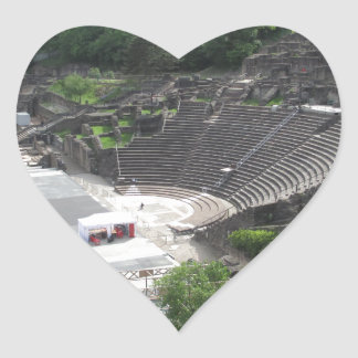 Grand Theater, Lyon Amphitheater, Roman | France Heart Sticker