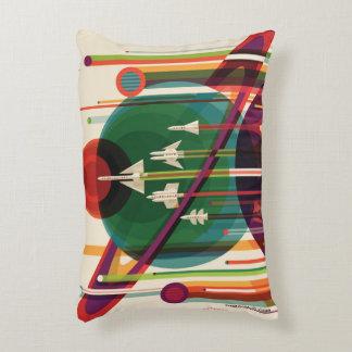 Grand Tour Retro NASA Travel Poster Accent Pillow