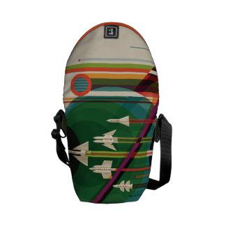 Grand Tour Retro NASA Travel Poster Messenger Bag