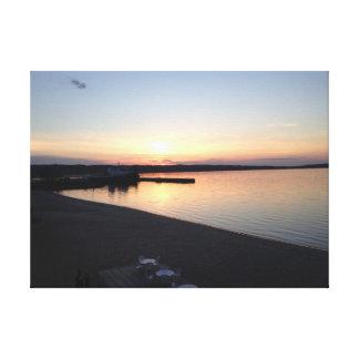 Grand Traverse Bay, Michigan Printed Canvas Canvas Print