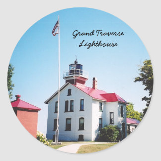 Grand Traverse Lighthouse Classic Round Sticker