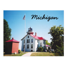 Grand Traverse Lighthouse Postcard at Zazzle
