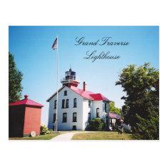 Grand Traverse Lighthouse Postcard at Zazzle