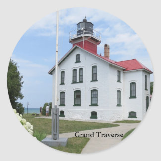 Grand Traverse Lighthouse Round Stickers