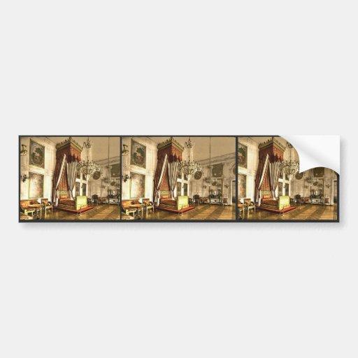Grand Trianon, chamber of Queen Victoria, Versaill Car Bumper Sticker