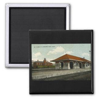 Grand Trunk and Pere Marquette Depots, Ionia, MI 2 Inch Square Magnet