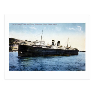Grand Trunk Car Ferry Milwaukee, Grand Haven, MI Postcard