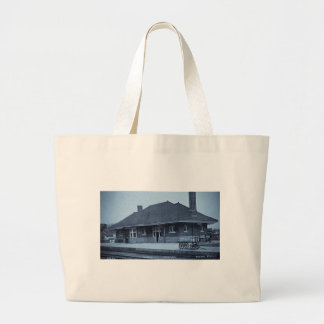Grand Trunk Depot Pontiac Michigan (Cyan) Bags