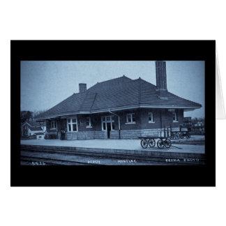 Grand Trunk Depot Pontiac Michigan (Cyan) Card