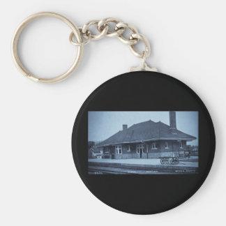 Grand Trunk Depot Pontiac Michigan (Cyan) Keychain
