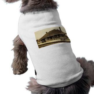 Grand Trunk Depot Pontiac Michigan Pet Tee Shirt
