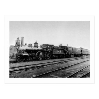 Grand Trunk Locomotive 345 - Vintage Postcard