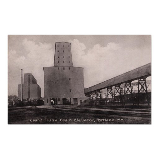 Grand Trunk Portland, Maine Grain Elevators Posters