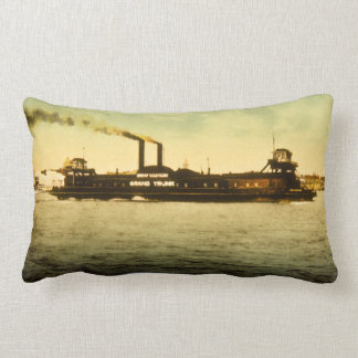 Grand Trunk Railroad Antique Vintage Postcard Lumbar Pillow