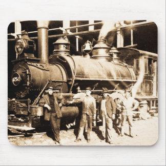 Grand Trunk Railroad Shop & Crew  - Vintage Mouse Pad