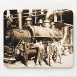 Grand Trunk Railroad Shop & Crew  - Vintage Mouse Pads