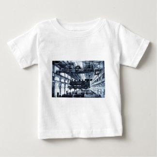 Grand Trunk Railroad Shops circa 1910 - Cyanotype Baby T-Shirt