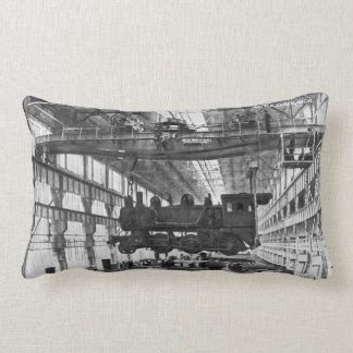 Grand Trunk Railroad Train Shops in Battle Creek Lumbar Pillow
