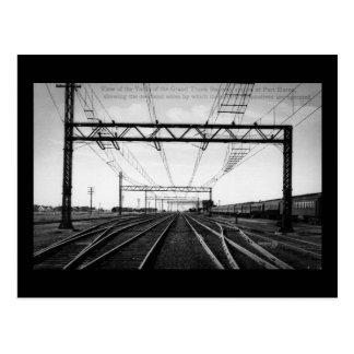Grand Trunk Railway Yards Vintage Port Huron MI Postcard