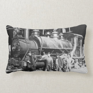 Grand Trunk Round House at Battle Creek Michigan Lumbar Pillow
