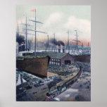 Grand Trunk Ry Portland, Maine Steamship Wharf Print
