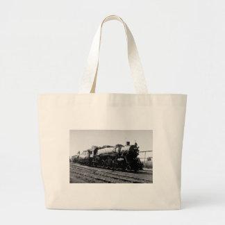 Grand Trunk Western  #3717 (2-8-2) Large Tote Bag