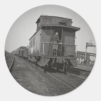 Grand Trunk Western Caboose Classic Round Sticker