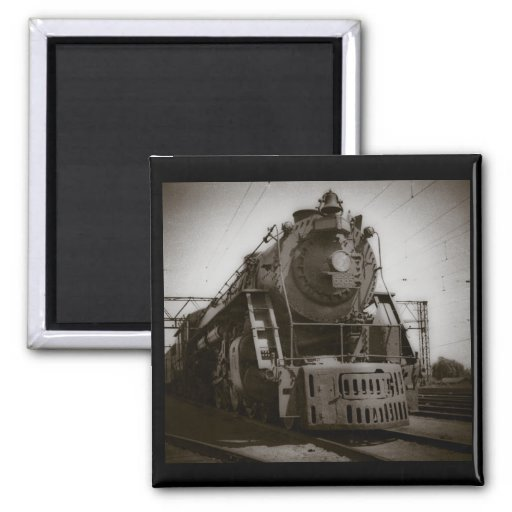 Grand Trunk Western Engine #6335 2 Inch Square Magnet