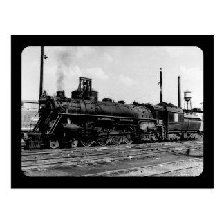 Grand Trunk Western (G.T.W.) Steam Engine #6323 Postcard