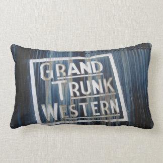 Grand Trunk Western Locomotive Railroad Engine Lumbar Pillow
