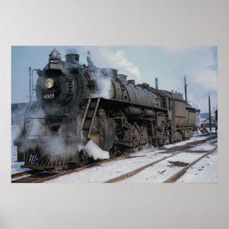 Grand Trunk Western Railroad, 2-8-4, No. 6327, nea Poster