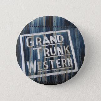 Grand Trunk Western Railroad Locomotive Engine Pinback Button