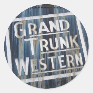Grand Trunk Western Railroad Locomotive Train Classic Round Sticker
