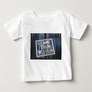 Grand Trunk Western Railroad Steam Engine Baby T-Shirt