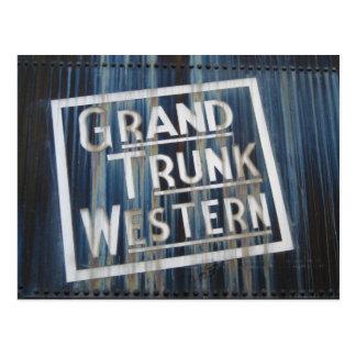 Grand Trunk Western Steam Engine Railroad Postcard