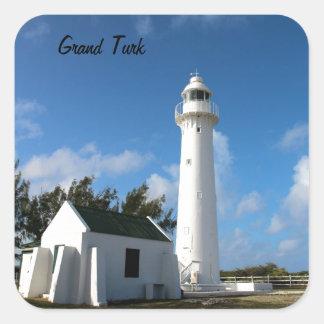Grand Turk Lighthouse photo Square Sticker