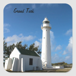 Grand Turk Lighthouse photo Square Sticker