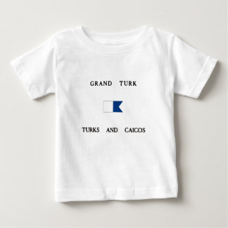 Grand Turk Turks and Caicos Alpha Dive Flag Baby T-Shirt
