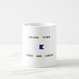 Grand Turk Turks and Caicos Alpha Dive Flag Coffee Mug