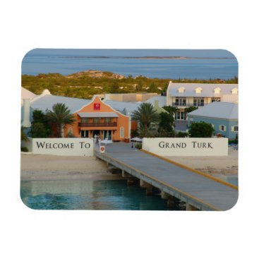 Beach Themed Grand Turk, Turks and Caicos, Hi def photography Magnet