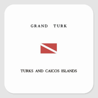 Grand Turk Turks and Caicos Islands Scuba Dive Stickers