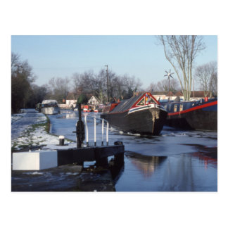 Grand Union Canal in winter Postcard