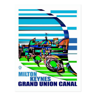 Grand Union Canal MK postcard
