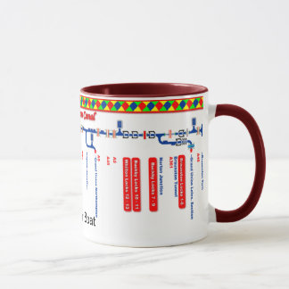 Grand Union Canal Route Map (1 of 4) Mug