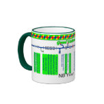 Grand Union Canal Route Map (2 of 4) Ringer Mug