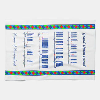 Grand Union Canal UK Inland Waterways Route Blue Kitchen Towel