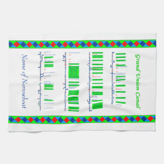 Grand Union Canal UK Inland Waterways Route Green Kitchen Towel