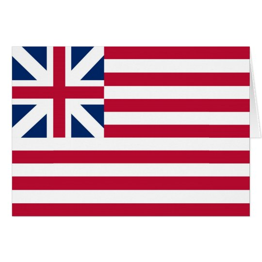 Grand Union Flag Continental Colors Card