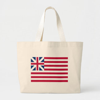 Grand Union Flag Continental Colors Large Tote Bag